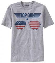 Flag Sunglasses Top Gun American Flag Sunglasses Heather Gray T Shirt Top