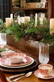 chairs astonishing rustic christmas centerpiece table setting