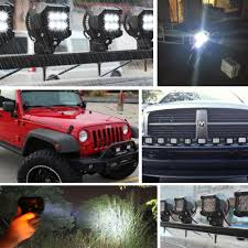Jeep Wrangler Led Light Bar by Aliexpress Com Buy Safego 2pcs 4inch Offroad Led Light Bar 18w
