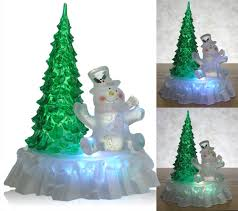 amazon com lighted christmas tree lighted snowman christmas
