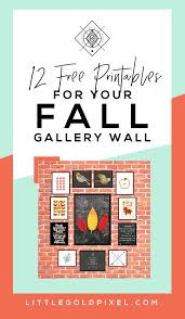halloween printable bookmarks fall gallery wall 12 bold u0026 modern free printables u2022 little gold