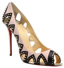 christian louboutin gold circus city 100 spike patent heel pumps