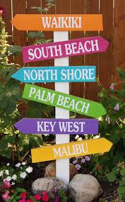 burton avenue beach directional sign wood projects pinterest