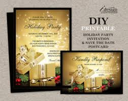 holiday party ticket invitations printable christmas party