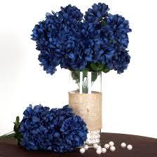 mums flower 4 navy blue large silk chrysanthemums mums bushes wedding flowers