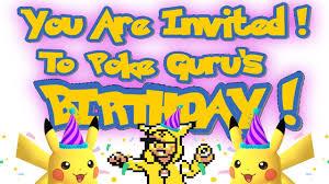 Pokemon Birthday Meme - ultra beast pokemon birthday meme invitation youtube