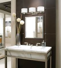 Bathroom Wall Mirror Ideas by Bathroom Silver Framed Wall Mirror With Upper Lighting For
