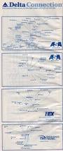 Delta Airlines Route Map by Airline Timetables Delta Air Lines December 1999