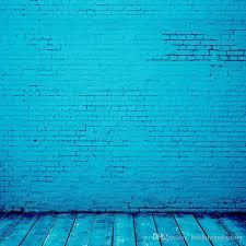 blue backdrop 2018 bright blue color vinyl backdrop brick wall wooden floor
