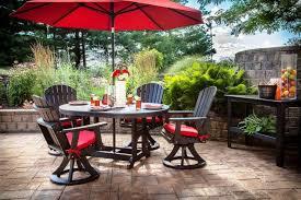 Umbrella Patio Sets Patio Extraordinary Small Table With Umbrella Outdoor Dining