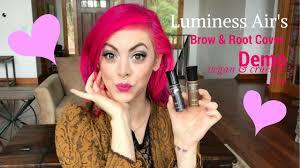 luminess air u0027s brow u0026 root cover review u0026 demo vegan u0026 cruelty
