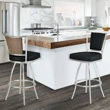 stainless steel bar stools with backs living delhi 30 bar height metal barstool in black pu with brushed