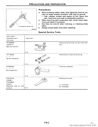 nissan maxima 1994 a32 4 g front suspension workshop manual