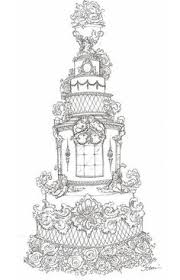 celeb wedding cake sketches