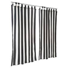 Curtains With Tabs Cabana Black Sunbrella Outdoor Curtains With Tabs