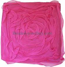 tissue cushion cover in the rose flower petal design size 16x16 inch
