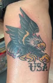 Rebel Flag Eagle Tattoo Paulie Oliver Funhouse Tattoo San Diego