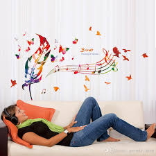 music note home decor diy colorful musical note home decor music wall sticker removable