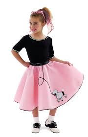 50s Halloween Costumes Poodle Skirts Sock Hop Skirt Costume Costumelook
