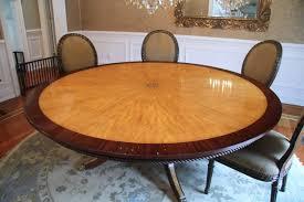 custom american made 7ft round satinwood u0026 mahogany dining table