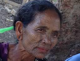 tattooed of the chin villages mrauk u myanmar