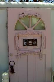 shabby chic doors white painted brick exterior and a shabby cottage chic trailer