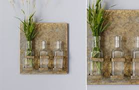 Wall Mounted Glass Flower Vases Wall Art Wall Decor Farmhouse And Barnyard Decor Home And