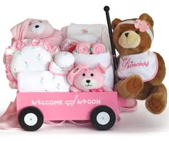 wagon baby baby girl gift pretty in pink welcome wagon