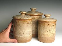 brown kitchen canister sets ceramic kitchen canister sets and pottery canister sets