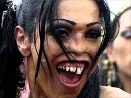 Funny Girl Face Meme - woman funny weird face makeup