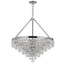 Crystal And Chrome Chandelier Crystal Chandelier Patti Bros Web Site