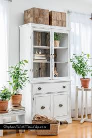 Farmhouse Kitchen Furniture China Cabinet Makeover From Traditional To Farmhouse Hometalk