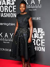 lupita nyong u0027o wears light up led dress to star wars event