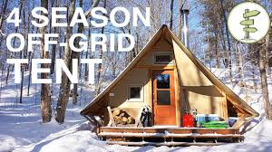 tent building off grid prospector style tent a tiny house alternative youtube