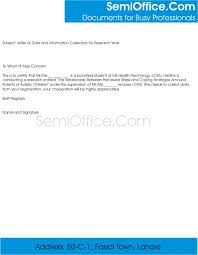 Certification Letter Of Endorsement Sample Sample Letter Of Data Collection And Research Work