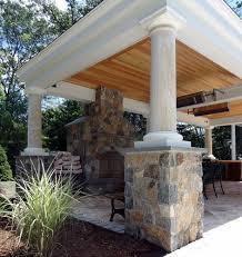 Houzz Backyard Patio by Houzz Outdoor Fireplace Deck Design And Ideas