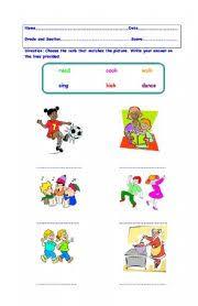 english teaching worksheets action verbs