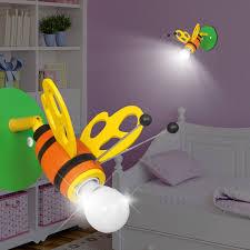 spot chambre enfant abeille projecteur mural enfant jaune le luminaire spot bourdon
