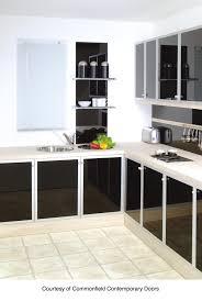 revetement meuble cuisine revêtement de meubles de cuisine en verre glastetik