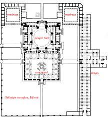 floor plan of mosque mimar sinan mosque of selim ii edirne art of the islamic world