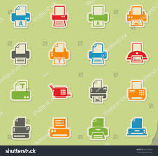 print web icons on color paper stock vector 513245824 shutterstock