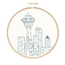 seattle s space needle embroidery kit studio mme