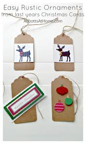 simple card ornaments abbotts at home