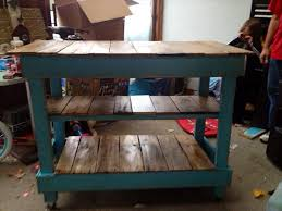 Pallet Kitchen Island Diy Recycled Pallet Kitchen Island Table 101 Pallets