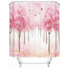 japan shower curtain promotion shop for promotional japan shower custom shower curtain bathroom waterproof bath screen beautiful red flowers high quality bathroom accessories