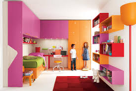 Teenager Bedroom Colors Ideas Teenage Bedroom Colors With Nice Orang And Pink Cabinet Feat Dark