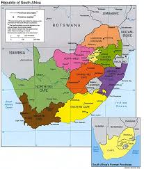 africa map with country names and capitals free south africa maps