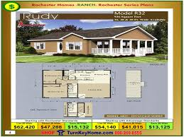 House Building Plans And Prices by Rudy Rochester Modular Home Model R32 Ranch Plan Price