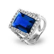 sapphire blue emerald cut cz cocktail ring eve u0027s addiction