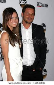 justin chambres camilla luddington justin chambers greys anatomy stock photo